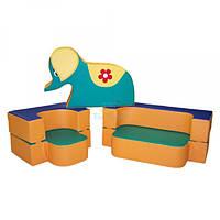 Диван-трансформер с игрушкой Слоник