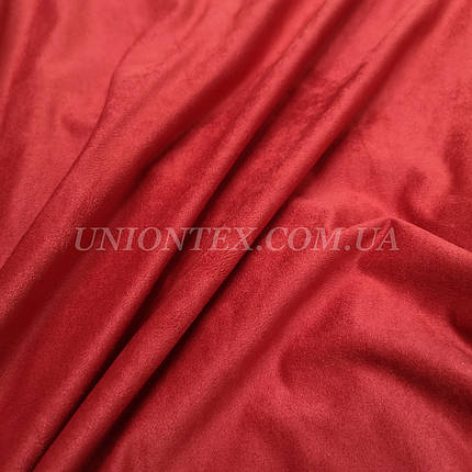 Ткань замша стрейч красная, фото 2