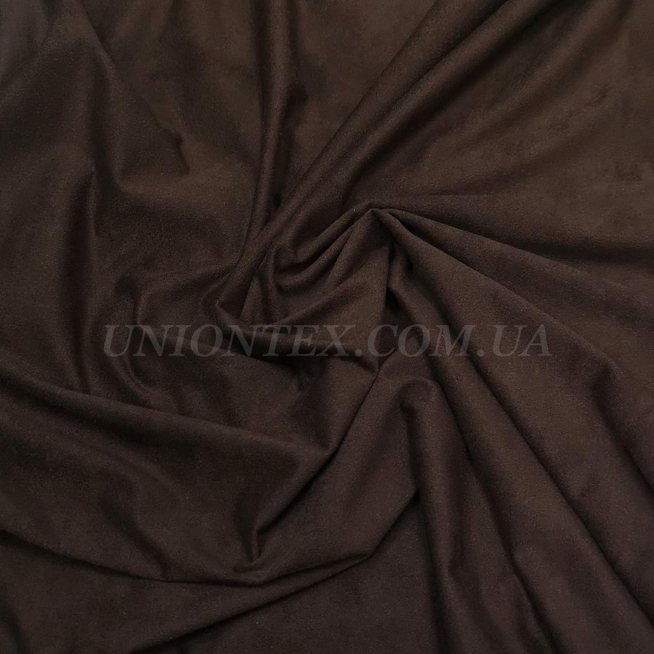 Ткань замша стрейчевая коричневая