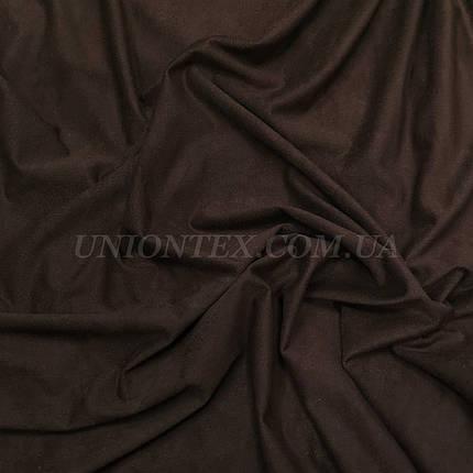 Ткань замша стрейчевая коричневая, фото 2