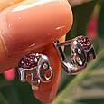 Серебряные серьги Слоники - Серьги Слоник серебро  Детские серьги для девочки Слоник, фото 2