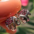 Серебряные серьги Слоники - Серьги Слоник серебро  Детские серьги для девочки Слоник, фото 5