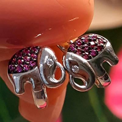 Срібні сережки Слоники - Сережки Слоник срібло Дитячі сережки для дівчинки Слоник