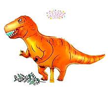 Фольгований повітряний фігурний куля динозавр 107 см