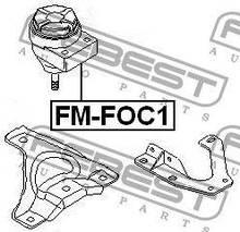 Подушка двигателя правая Febest FE FM-FOC1