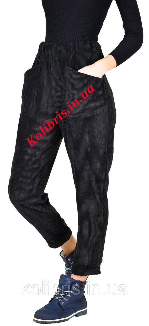 Вельветовые штанишки момы черного цвета
