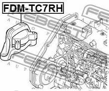 Подушка двигателя правая Febest FE FDM-TC7RH