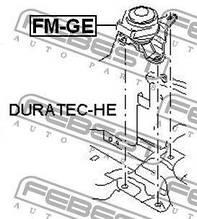 Подушка двигуна права Febest FE FM-GE