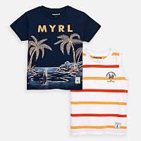 Комплект футболка и майка для мальчика Mayoral синий 92 рост03072-091
