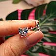 Серебряные серьги пуссеты Бабочка - Детские серьги Бабочки серебро, фото 3