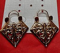 693. Большие серьги оптом. Позолоченная ювелирная бижутерия Xuping Jewelry