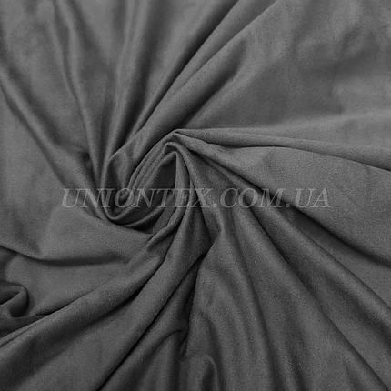 Ткань замша стрейчевая серая, фото 2