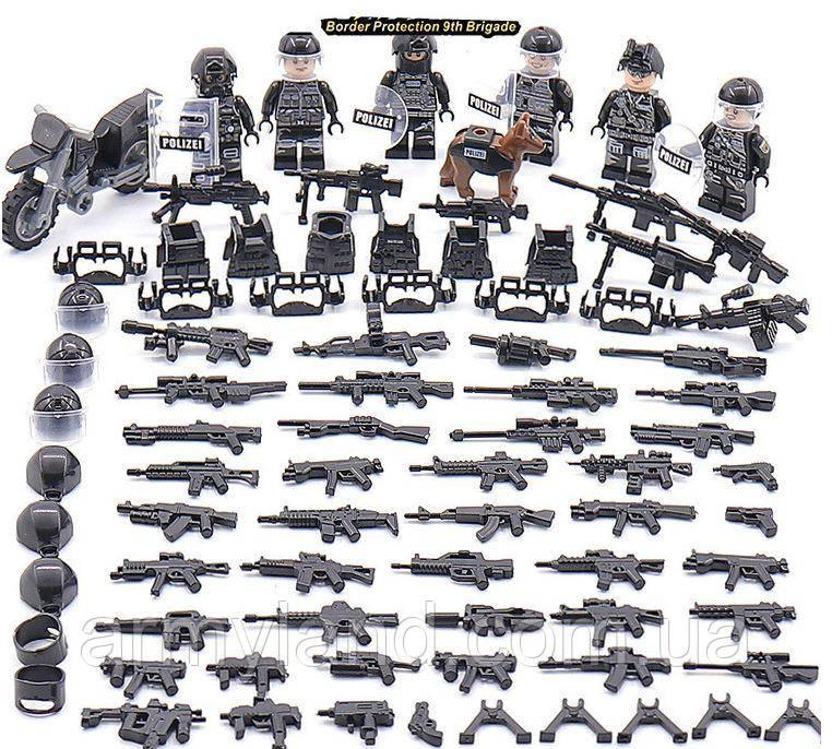 SWAT ПОЛИЦИЯ + МОТОЦИКЛ, конструктор, BrickArms, аналош Лего