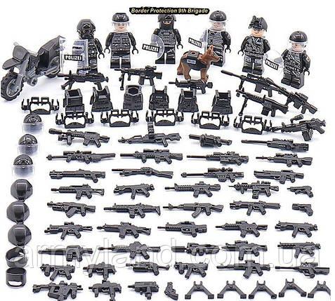 SWAT ПОЛИЦИЯ + МОТОЦИКЛ, конструктор, BrickArms, аналош Лего, фото 2