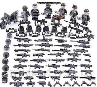 SWAT ПОЛИЦИЯ + МОТОЦИКЛ, конструктор, BrickArms, аналог Лего