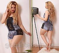 Пижамка женская,комплект шортики и маечка,ткань мраморный велюр,размеры 50-52 54-56, код 0606/1, фото 6