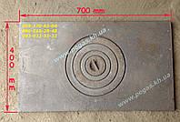 Плита чугунная (400х700мм) печи, грубу, мангал, барбекю, фото 1