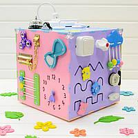 Бизикуб. Развивающие игрушки для детей. Разноцветные