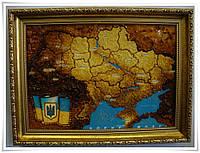 Картина с янтаря Карта Украины 60х40 см