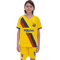 Форма футбольная детская BARCELONA MESSI Барселона Zelart гостевая 0975 S (22) рост 120-125 см, фото 1