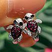 Серебряные серьги для девочки Черепашки - Детские серьги Черепашки серебро, фото 3