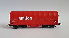 Roco 47444 модель 4х осного тентованого критого вагона Railion масштабу 1/87, H0