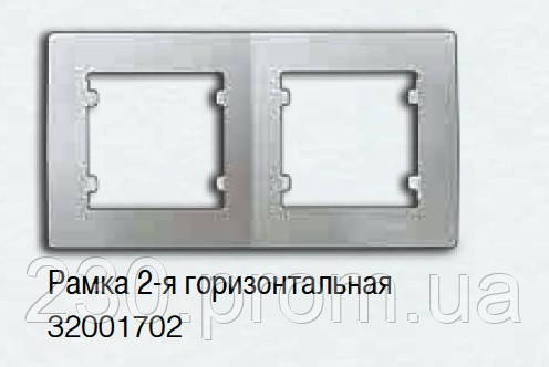 Рамка 2-я белая LILLIUM natural KARE