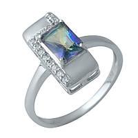 Серебряное кольцо GS с натуральным мистик топазом (1990278) 17.5 размер