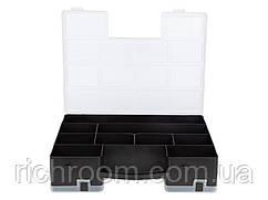 F1-00718, Органайзер двосторонній для дрібних деталей і інструментів POWERFIX, 29 х 22 х 7 см,