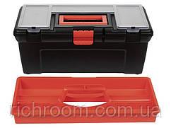 F1-00715, Ящик, кейс, органайзер для інструментів POWERFIX, 40 х 20 х16,5 см , чорний-помаранчевий