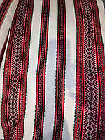 Декоративна тканина червоно-чорна