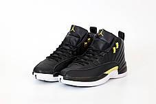 Мужские кроссовки Nike Air Jordan 12 Retro. Black. ТОП Реплика ААА класса., фото 2