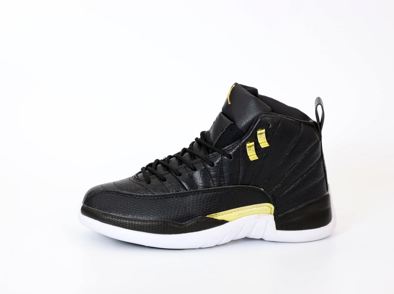 Мужские кроссовки Nike Air Jordan 12 Retro. Black. ТОП Реплика ААА класса.