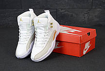 Мужские кроссовки Nike Air Jordan 12 Retro. White Gold. ТОП Реплика ААА класса., фото 3