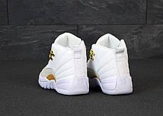 Мужские кроссовки Nike Air Jordan 12 Retro. White Gold. ТОП Реплика ААА класса., фото 2