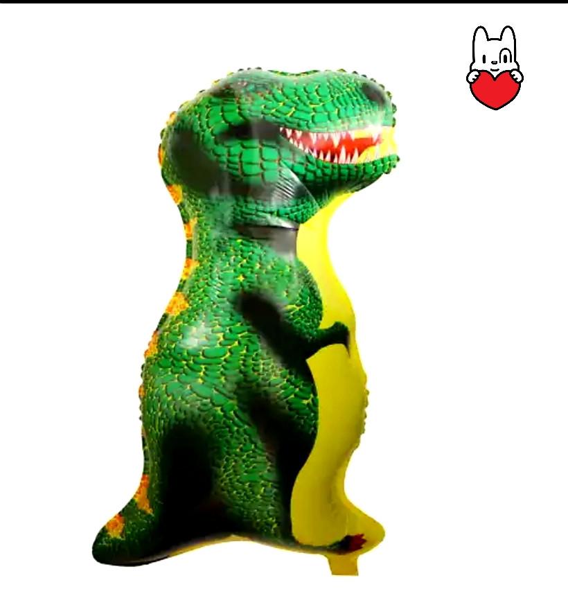 Фольгированный воздушный шарик динозавр зеленый 88 см