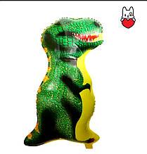 Фольгований повітряна кулька динозавр зелений 88 см