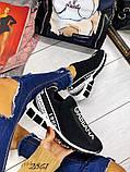 Женские кроссовки текстиль Дольче Габбана черные, белые, фото 2