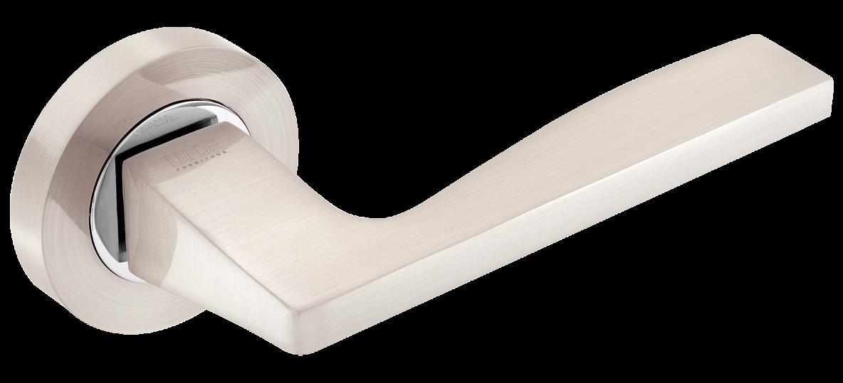 Дверные ручки LINDE A-1220 SN-CP матовый никель/полированный хром