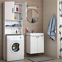 Тумба под стиральную машину, шкаф в ванную с полками ДСП, МДФ Влагостойки Шкаф під пральну машину