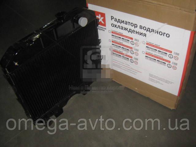 Радиатор охлаждения УАЗ (3-х рядн) медный (Дорожная карта) 3741-1301010-01С