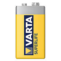 Батарейка Varta Superlife 6F22 Zinc-Carbon 9V Krona, Yellow