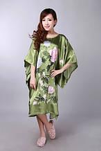 Шелковое кимоно пионы