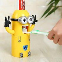 Дозатор для зубной пасты с держателем для щеток Миньон, фото 3
