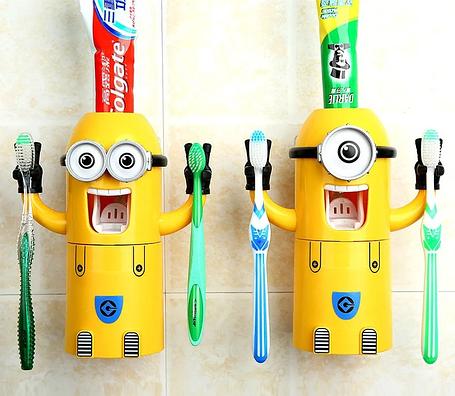 Дозатор для зубной пасты с держателем для щеток Миньон, фото 2