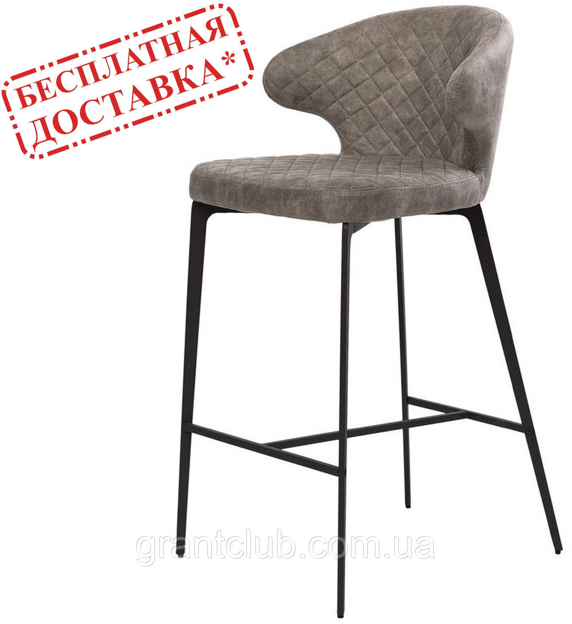 Полубарный стілець KEEN ШЕДОУ ГРЕЙ світло сірий (безкоштовна доставка)