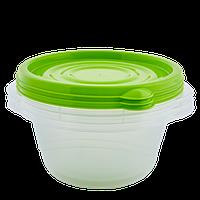 """Набор контейнеров (3 шт) для пищевых продуктов """"Алеана"""" ОМЕГА круглый 0,44л."""