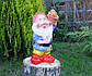 Садовый гном с корзиной яблок 40 см керамика (619), фото 2