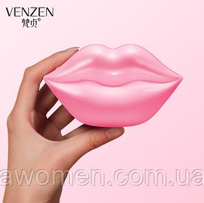 Гидрогелевые патчи для губ Venzen Lip Mask Double Moisturizing (20 штук)