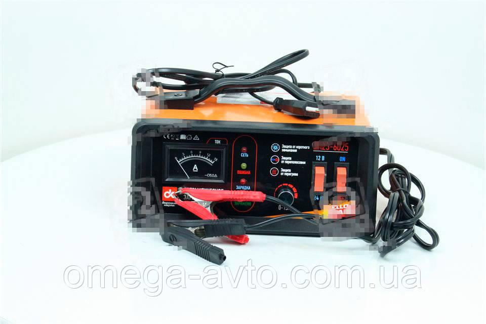 Зарядное устройство 15Amp 12/24V аналоговый индикатор (Дорожная Карта) DK23-6025